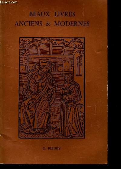 CATALOGUE DE BEAUX LIVRES ANCIENS & MODERNES / Livres anciens - Histoire et voyages - chasse - Equitation - romantiques et Modernes.