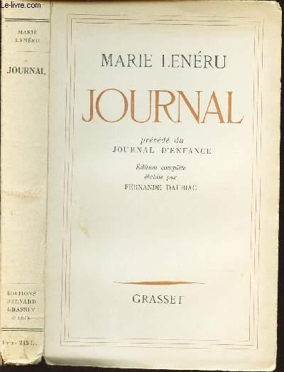 JOURNAL - PRECEDE DU JOURNAL D'ENFANCE