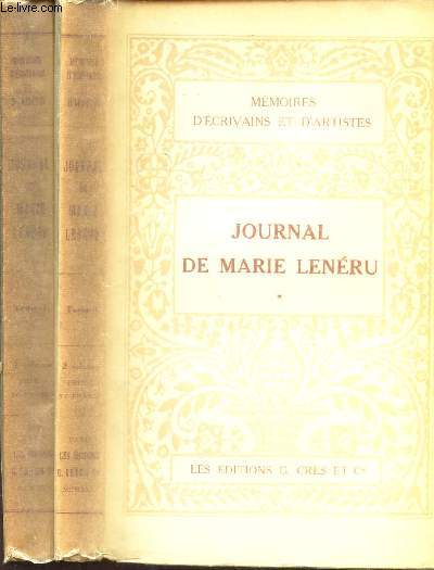 JOURNAL DE MARIE LENERU - EN 2 VOLUMES /  TOME PREMIER + TOME DEUXIEME / collection