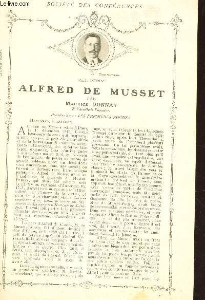 ALFRED DE MUSSET - PREMIERE LECON : LES PREMIERES POESIES / Supplément  aux Lectures pour tous - Année 1914 - SOCIETE DES CONFERENCES