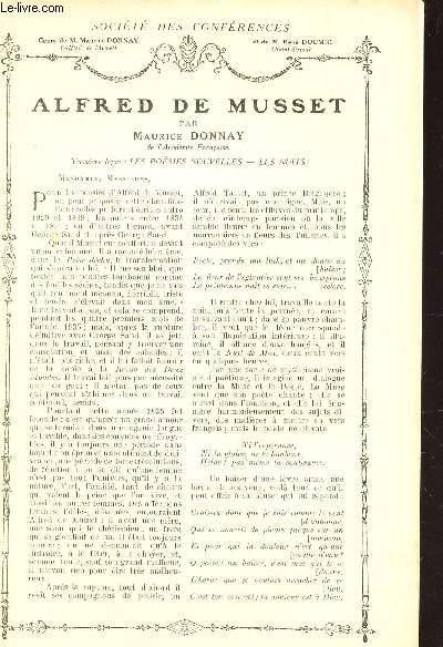 ALFRED DE MUSSET - TROISIEME LECON : LES POESIES NOUVELLES / Supplément  aux Lectures pour tous - Année 1914 - SOCIETE DES CONFERENCES