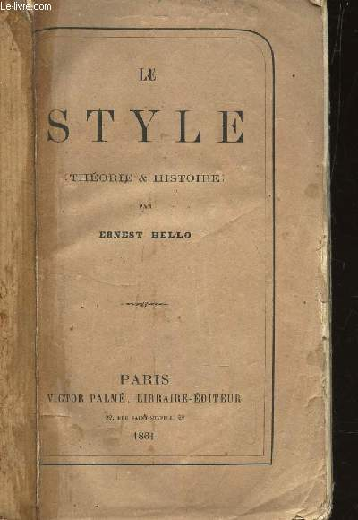 LE STYLE - THEORIE & HISTOIRE