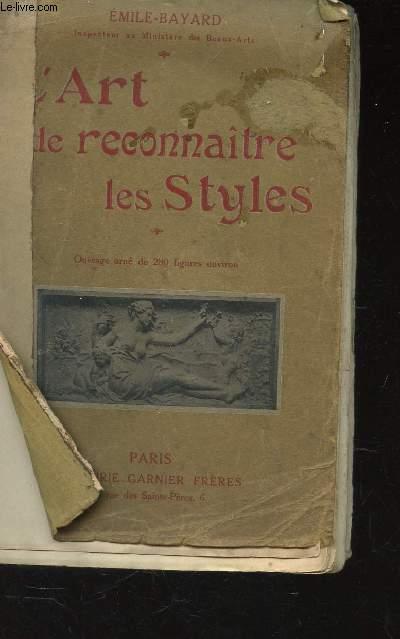 L'ART DE RECONNAITRE LES STYLES -