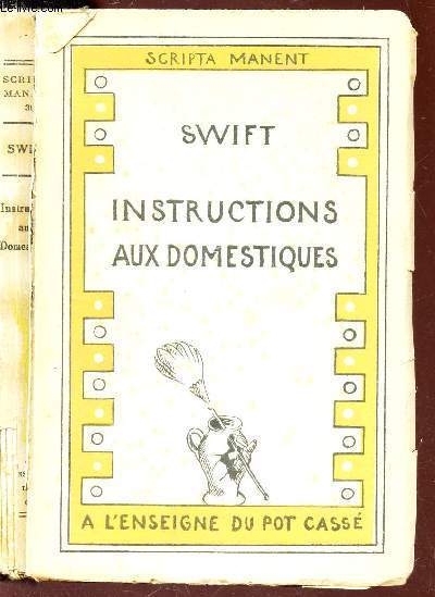 INSTRUCTIONS AUX DOMESTIQUES - PENSEES / N°39 A LA COLLECTION