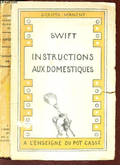 INSTRUCTIONS AUX DOMESTIQUES - PENSEES / / N°39 A LA COLLECTION