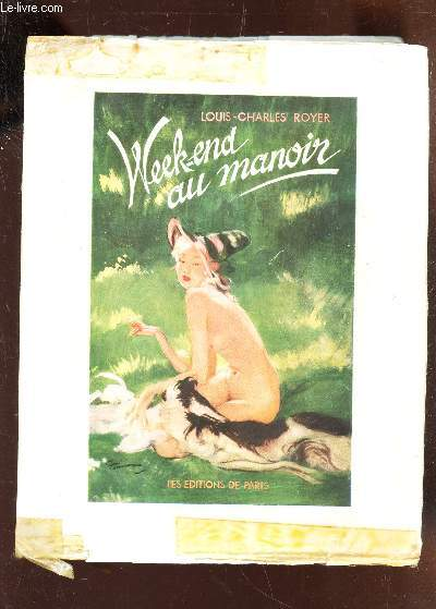 WEEK-END AU MANOIR - 16 lithographies en couleurs de Jacques Lechantre / ENVOI DE L'AUTEUR.