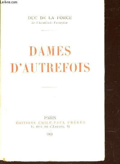 DAMES D'AUTREFOIS