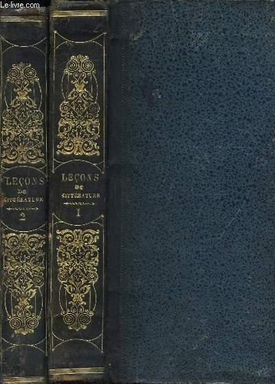 LECONS ET MODELES DE LITTERATURE FRANCAISE ANCIENNE ET MODERNE / EN 2 VOLUMES : TOME PREMIER :  DEPUIS VILLE-HARDOUIN JUSQU'A M. DE CHATEAUBRIAND  + TOME DEUXIEME : DEPUIS LE CHATELAIN DE COURCY JUSQU'A M. DE LAMARTINE / EDITION ILLUSTREE.