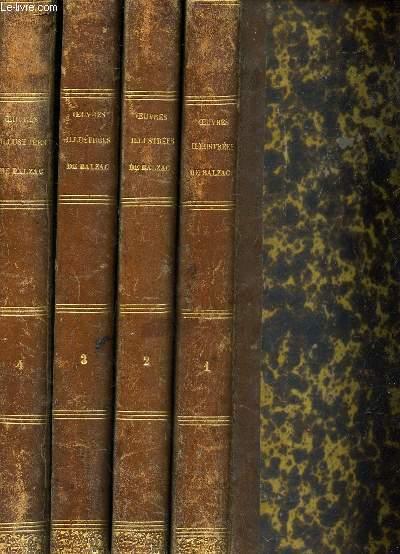 OEUVRES ILLUSTREES - EN 4 VOLUMES / TOMES 1 + 2 + 3 + 4 (voir sommaire en Notice). TITRES COMPLETS POUR CHACUNE DES TOMAISONS.