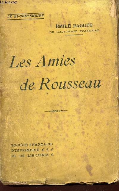 LES AMIES DE ROUSSEAU