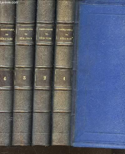 CORRESPONDANCE DE BERANGER - EN 4 VOLUMES - DU TOME 1 AU TOME 4.