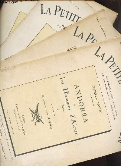 ANDORRA OU LES HOMMES D'AIRAIN,  ROMAN - EN 4 VOLUMES / I +II +III+ IV. / N°59 + 60 + 61 + 62.  - ANNEE 1923.