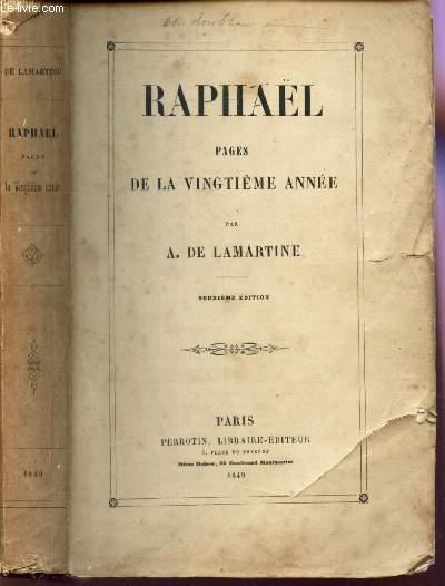 RAPHAEL - PAGES DE LA VINGTIEME ANNEE / 2e EDITION.