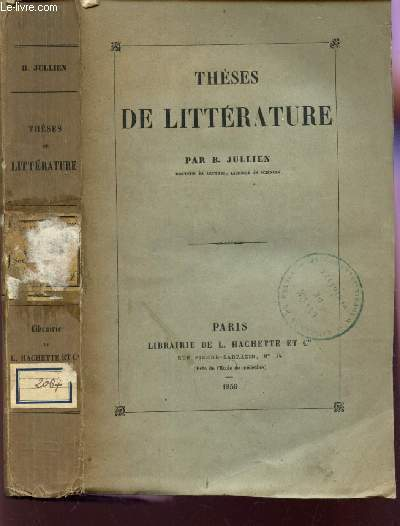 THESES DE LITTERATURE