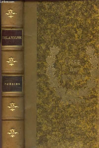 POESIES - OEUVRES COMPLETES DE CASIMIR DELAVIGNE / NOUVELLE EDITION - Messeniennes - Chants populaires - Poesies diverses - Ouevres posthumes - Derniers chants - poemes et ballades sur l'Italie.