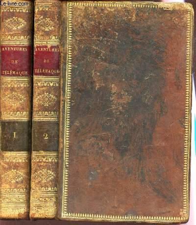 AVENTURES DE TELEMAQUE - EN 2 VOLUMES / TOME PREMIER + TOME SECOND. / SUIVIES DES AVENTURES D'ARISTONOUS - precédées d'une notice biographique et litteraire par M. VILLEMAIN.