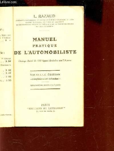 MANUEL DE L'AUTOMIBILISTE - NOUVELLE EDITION REVUE ET CORRIGEE