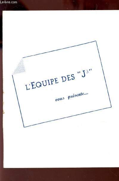 PLAQUETTE DU PROGRAMME: L'EQUIPE