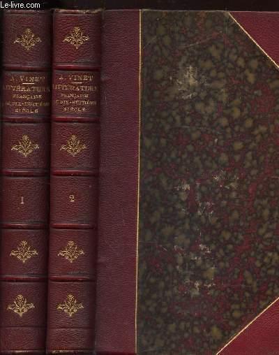 HISTOIRE DE LA LITTERATURE FRANCAISE AU DIX HUITIEME SIECLE / EN 2 VOLUMES / TOME 1 + TOME 2. / 2e EDITION.