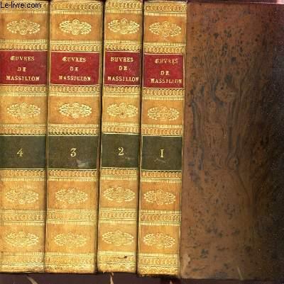 OEUVRES DE MASSILLON - EN 4 VOLUMES / DU TOME PREMIER AU TOME 4.