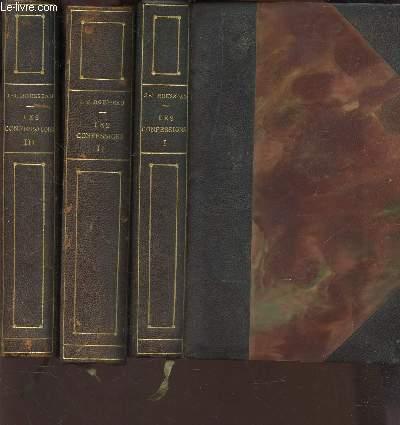 LES CONFESSIONS - EN 3 VOLUMES / DU TOME I AU TOME III. - et suivie des RÊVERIES DU PROMENEUR SOLITAIRE.