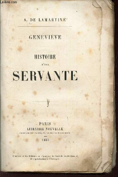 GENEVIEVE - HISTOIRE D'UNE SERVANTE