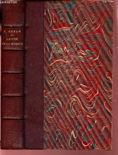 L'AVENIR DE LA SCIENCE - PENSEE DE 1848 / 10e EDITION.