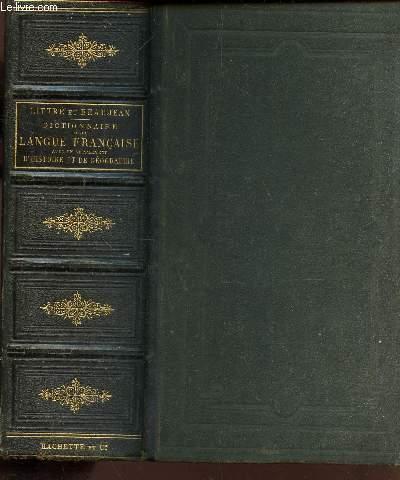 DICTIONNAIRE DE LA LANGUE FRANCAISE ABREGE DU DICTIONNAIRE - Avec en supplement d'histoire et de geographie / 7e edition.
