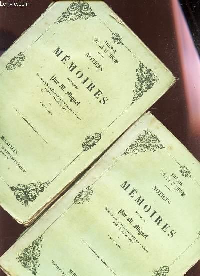 NOTICES ET MEMOIRES HISTOIRES - EN 2 VOLUMES / TOME PREMIER + TOME DEUXIEME. / TRESOR HISTORIQUE ET LITTERAIRE.