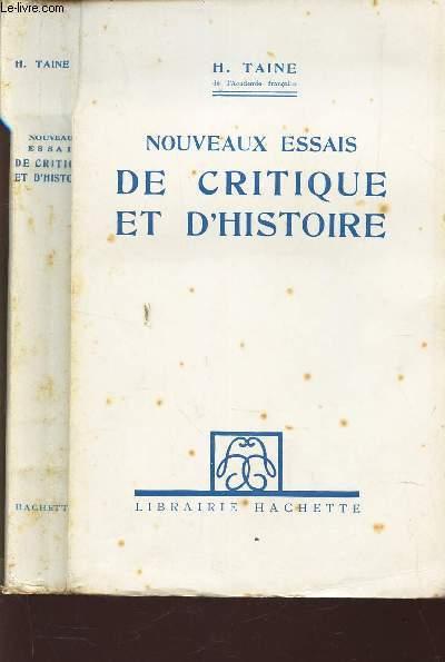 NOUVEAUX ESSAIS DE CRITIQUE ET D'HISTOIRE