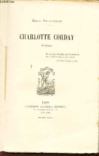 CHARLOTTE CORDAY - POEME
