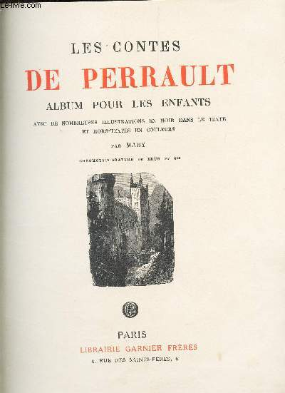 LES CONTES DE PERRAULT - ALBUM POUR LES ENFANTS -