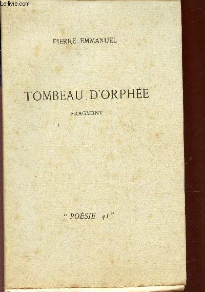TOMBEAU D'ORPHEE - FRAGMENT