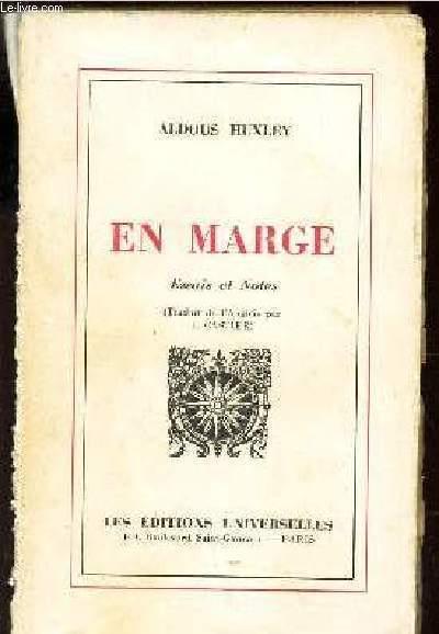 EN MARGE - ESSAIS ET NOTES.