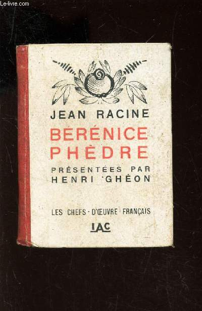 BERENICE PHEDRE -