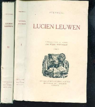 LUCIEN LEUWEN - EN 2 VOLUMES / TOME 1 + TOME 2. / Introduction et Notes par Henri Martineau.