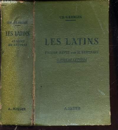 LES LATINS - PAGES PRINCIPALES DES AUTEURS DU PROGRAMME - CLASSES DE LETTRES (3e, 2e, 1re, PHILOSOPHIE).