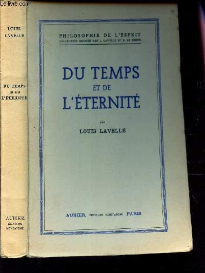 Du temps et de l'eternité aubier. 1945. in-8 broché.