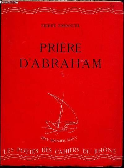 PRIERE D'ABRAHAM / N°  / N°5  DE LA  COLLECTION DES CAHIERS DU RHONE.