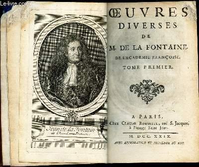OEUVRES DIVERSES DE M. DE LA FONTAINE - TOME PREMIER.