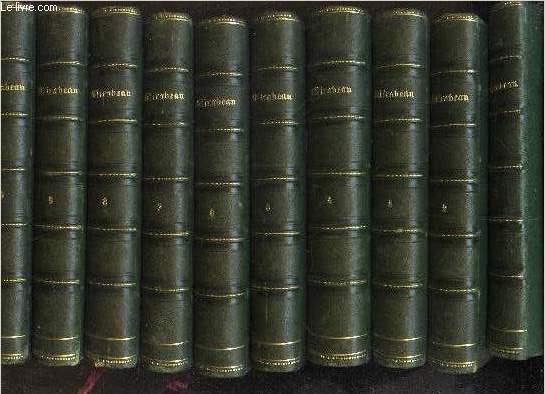 OEUVRES DE MIRABEAU - EN 10 VOLUMES / DU TOME PREMIER AU TOME DIX.