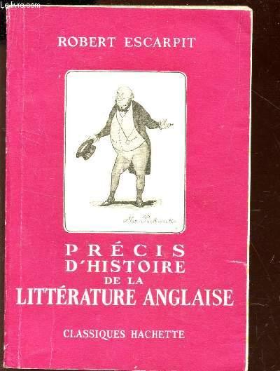 PRECIS D'HISTOIRE DE LA LITTERATURE ANGLAISE