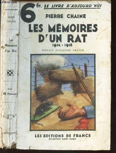 LES MEMOIRES D'UN RAT - 1914-1918 / COLLECTION