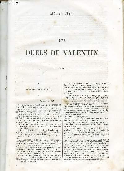LES DUELS DES VALENTIN.