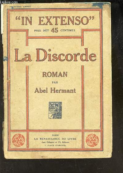 LA DISCORDE  / N°1- 1ere ANNEE  DE LA COLLECTION
