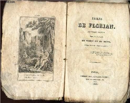 FABLES DE FLORIAN - NOUVELLE EDITION / revue, corrigée et suivie de TOBIE ET DE RUTH - POEMES TIRES DE L4eCRITURE SAINTE.