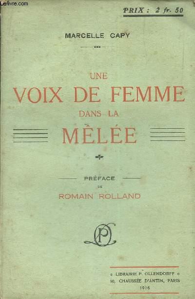 UNE VOIX DE FEMME DANS LA MELEE / NOTE DE L'AUTEUR :