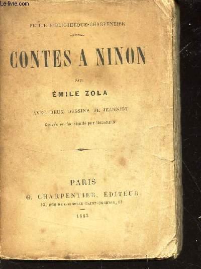 CONTES A NINON / COLLECTION PETITE BIBLIOTHEQUE CHARPENTER