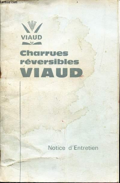 CHARRUES REVERSIBLES VIAUD / MONTAGE UTILISATION ENTRETIEN / NOTICE 6108 D