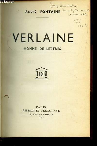 VERLAINE HOMME DE LETTRES